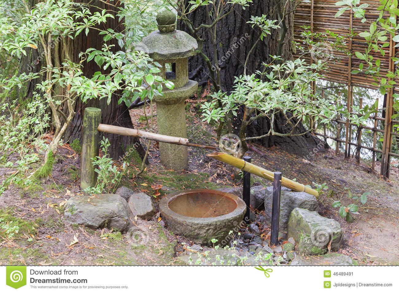 Fontaine Jardin Japonais Fontaine D Eau De Tsukubai Et ... pour Lanterne Pierre Jardin Japonais