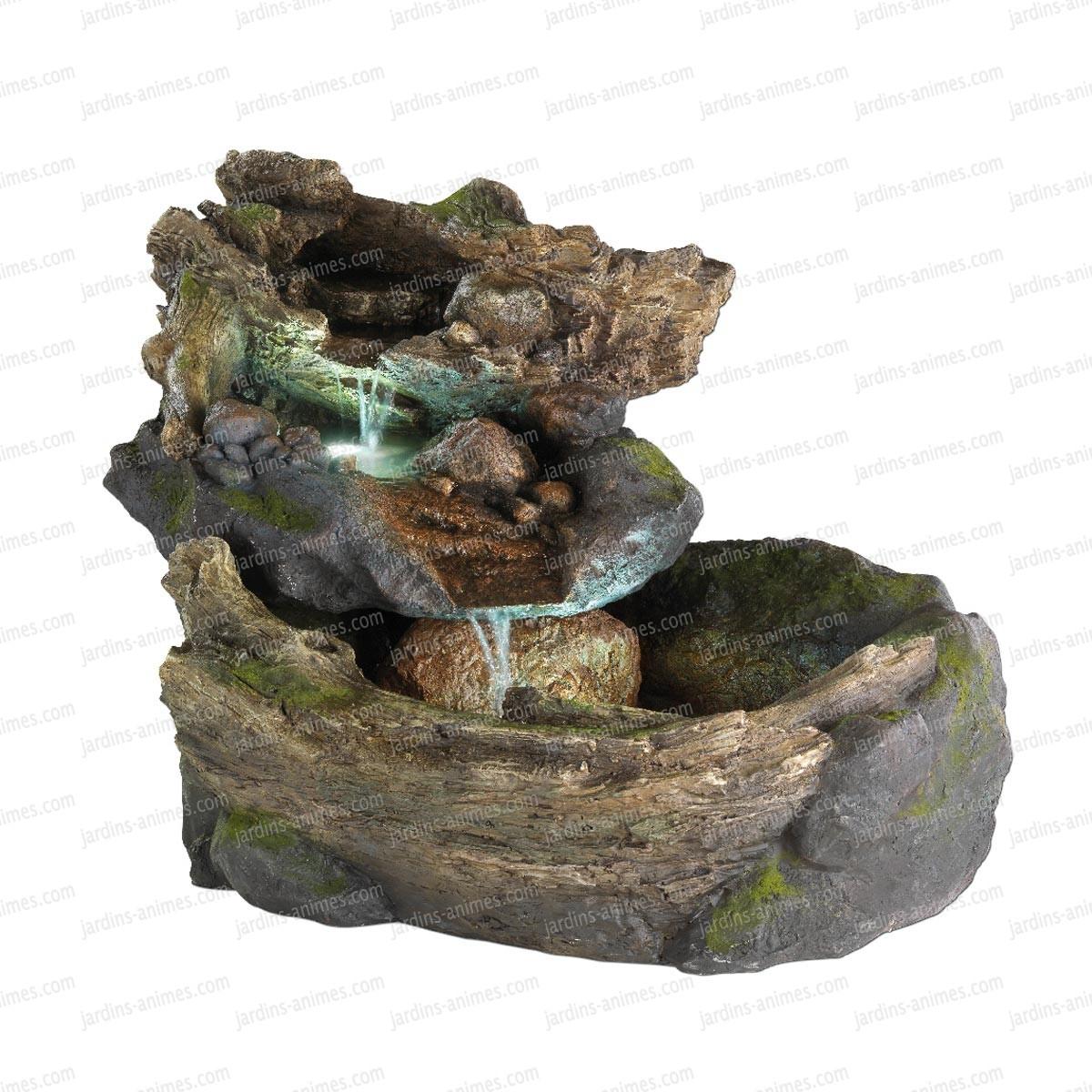 Fontaine Rocher En Cascade Lumineuse Exterieur avec Fontaine Solaire Exterieur Jardin