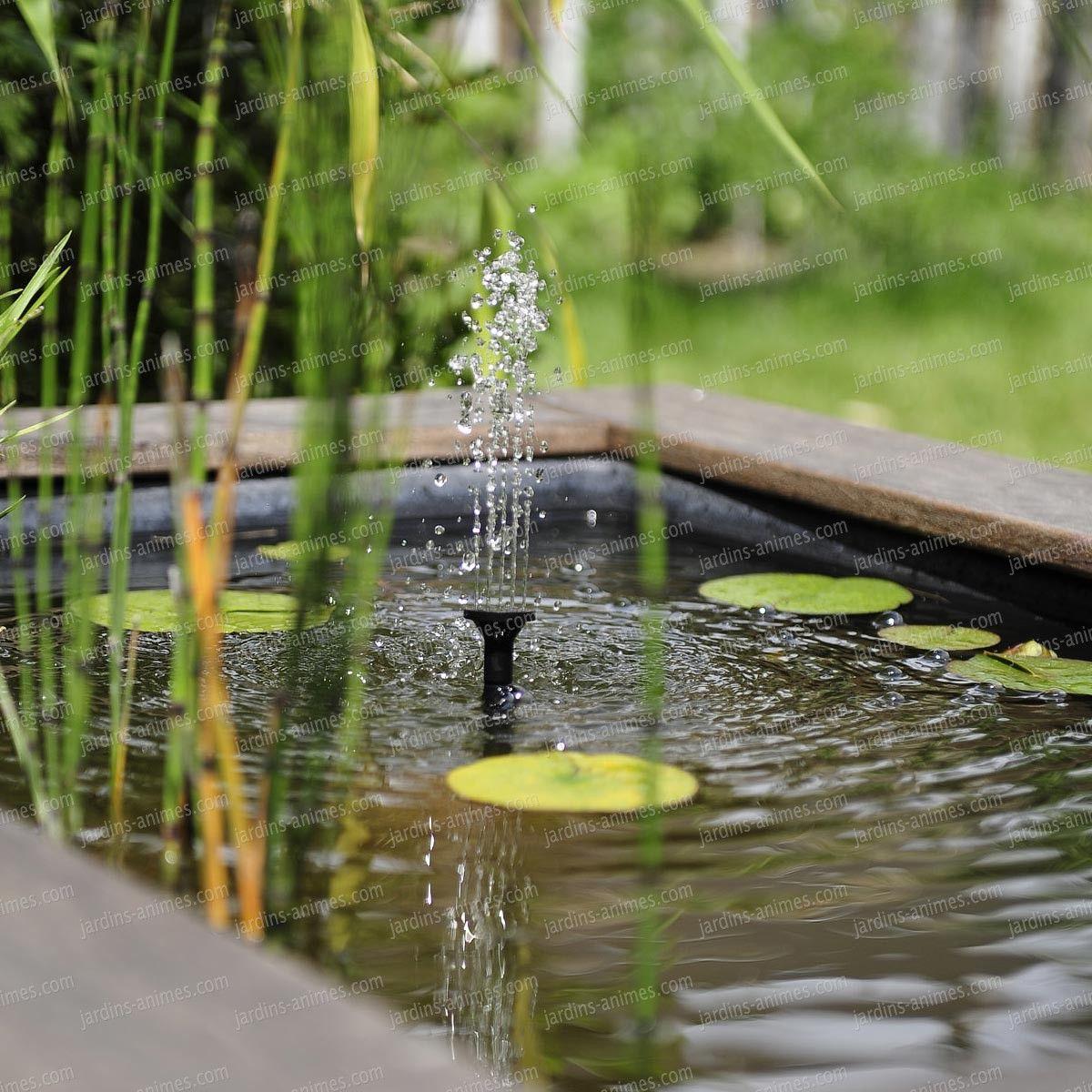 Fontaine Solaire Petits Bassins Sj150 | Fontaine Solaire ... serapportantà Petit Bassin Pour Jardin