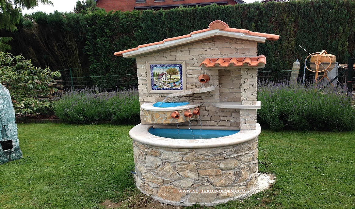 Fontaines En Pierre Naturelle Ref 30 pour Fontaine Naturelle Jardin