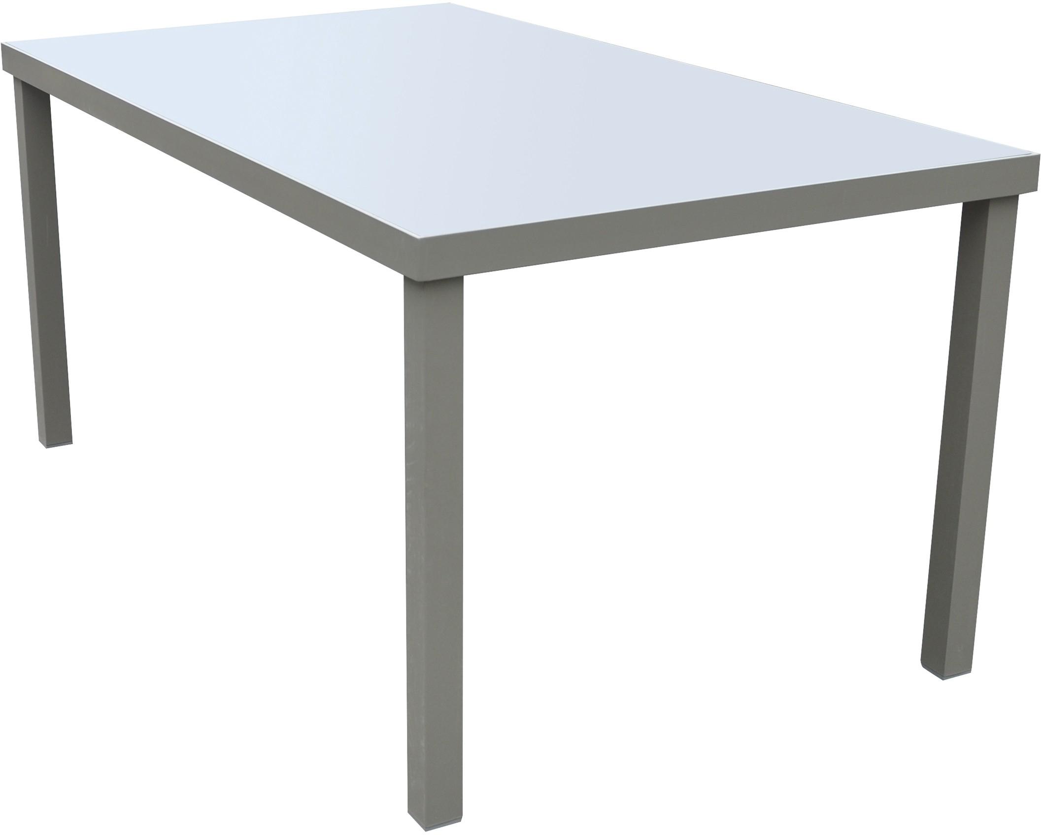 Fornord Table De Jardin Alu/verre Gris/noir L.160 X L.90 X H.75 Cm - Hyper  Brico dedans Table De Jardin Aluminium Et Verre