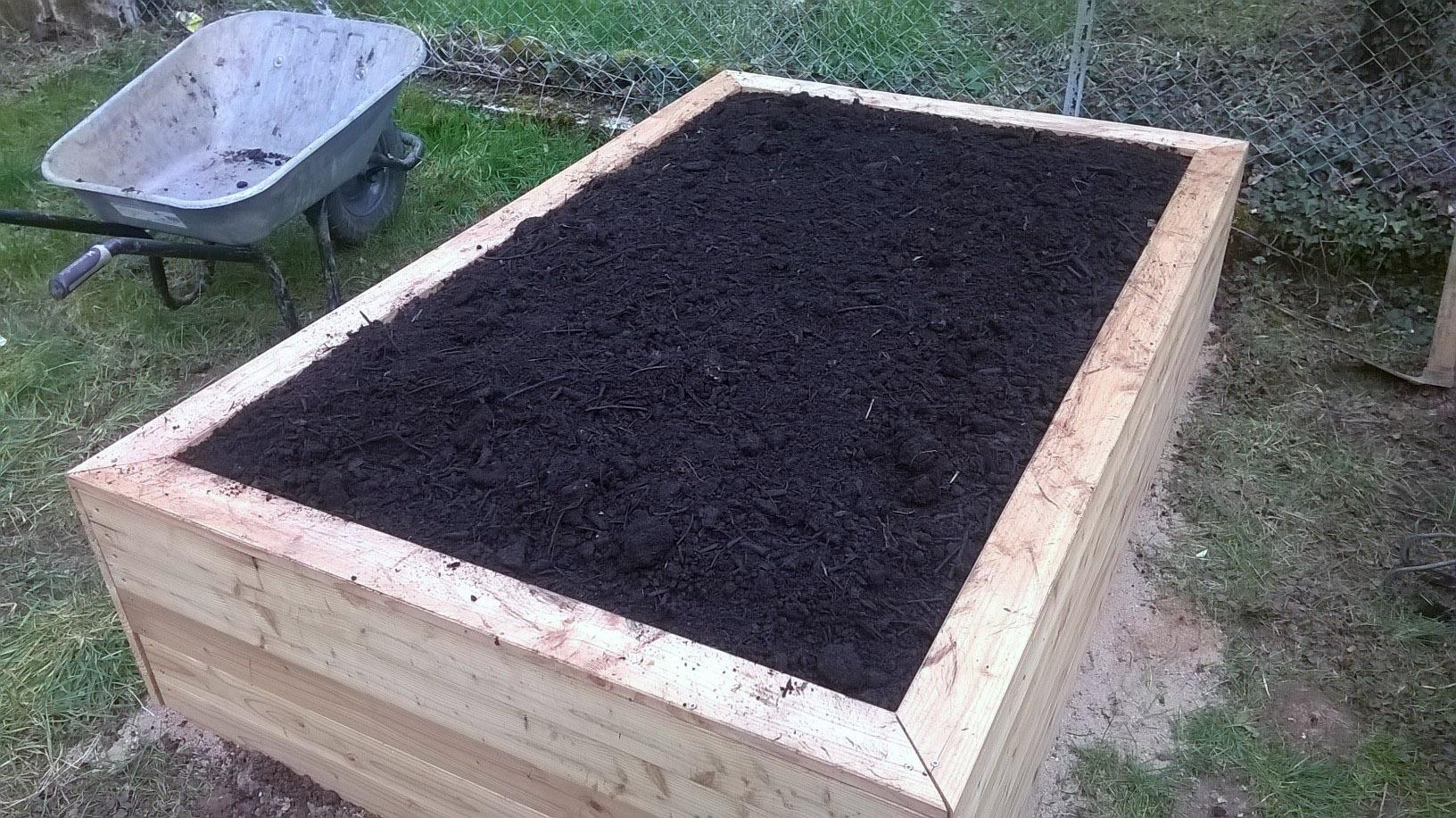 Fr] Jardinage – Construction De Potagers Surélevés – Funky Diy avec Jardin Surélevé Bois