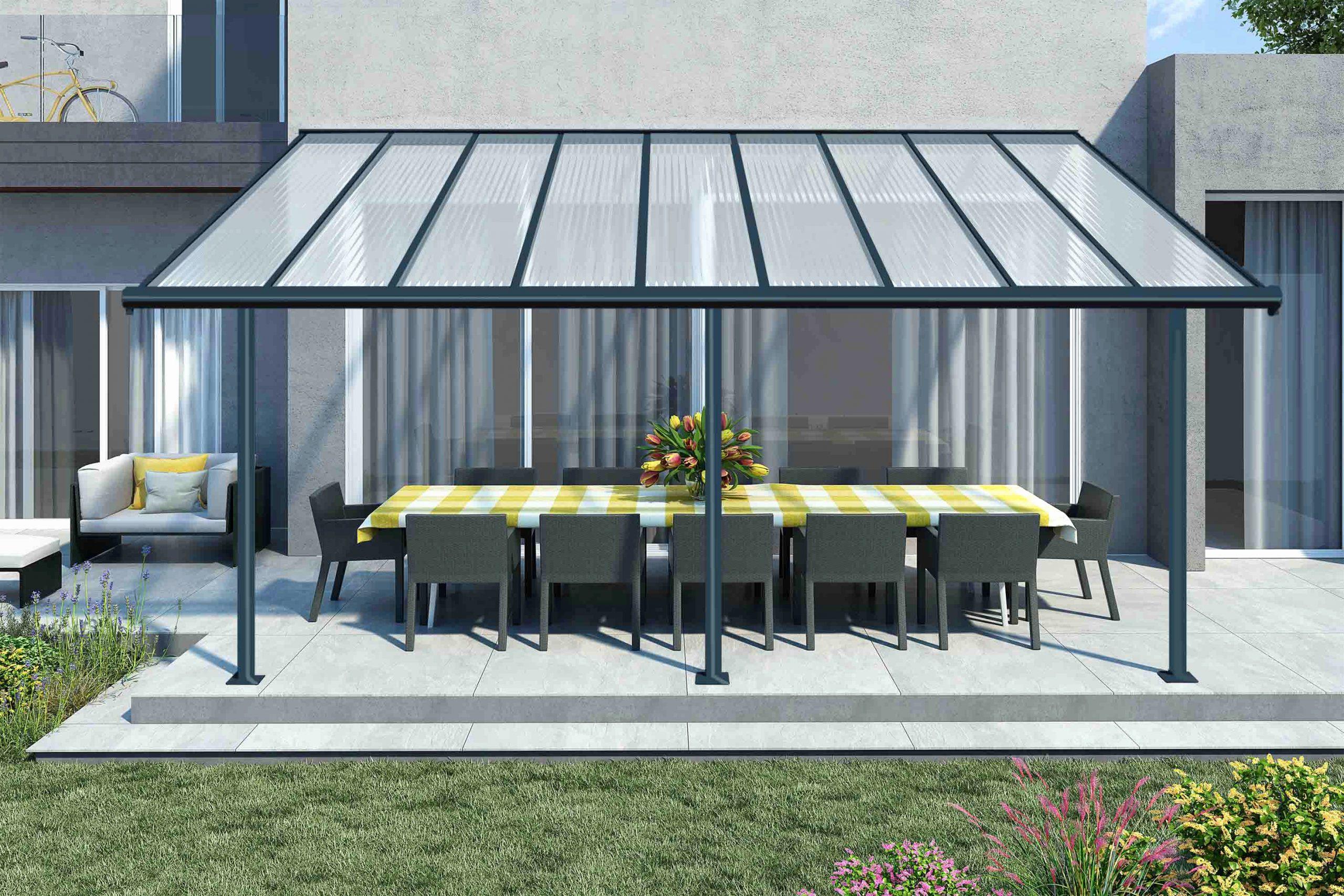 Frais Pergola Aluminium Toile Retractable Conception De ... concernant Pergola Castorama Jardin