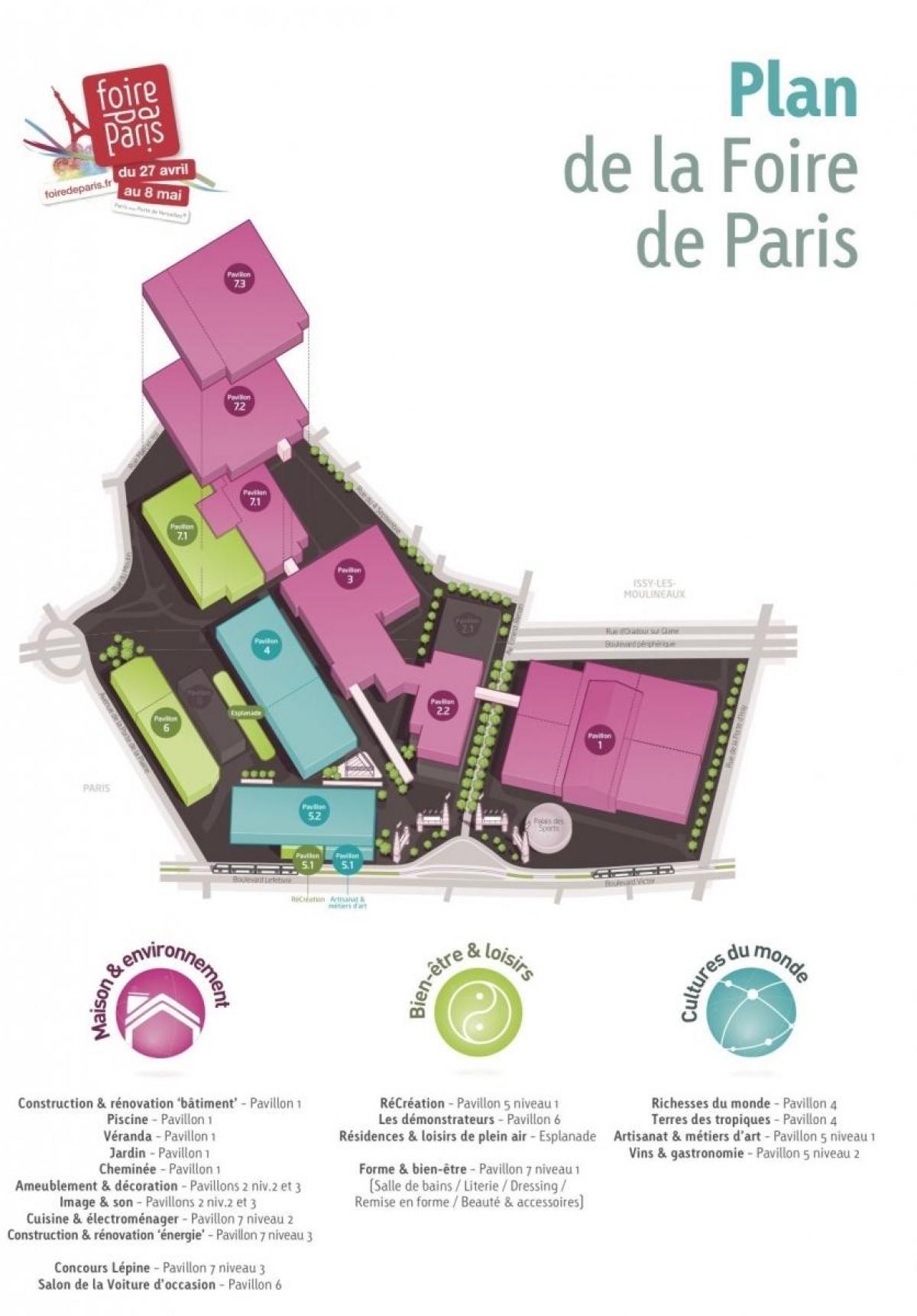 Fransa)Foire De Paris Foire De Paris Haritası - Harita destiné Salon De Jardin D Occasion