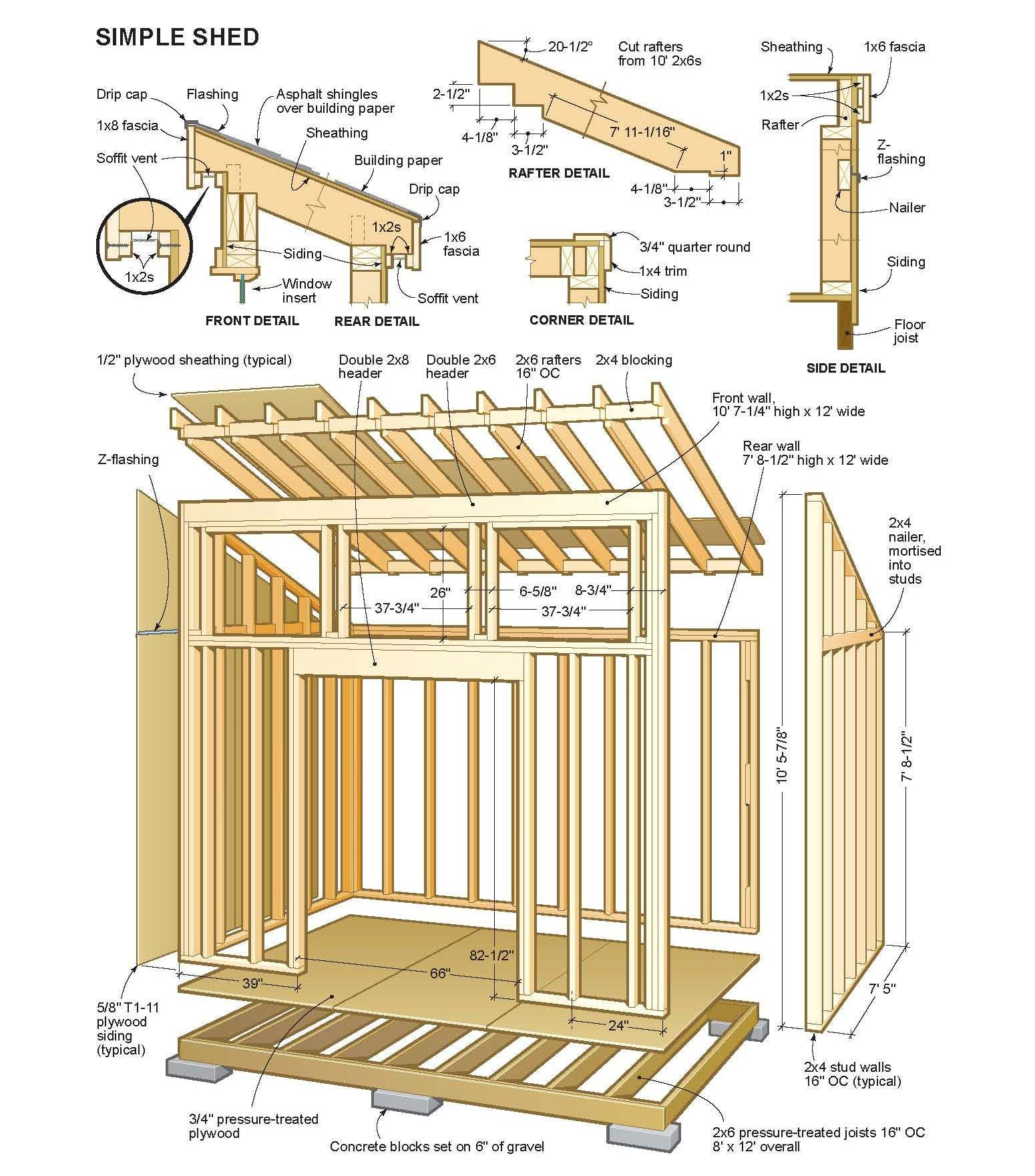 Free Country Simple Shed Plans | Abri De Stockage, Plan ... avec Plan Abri De Jardin En Bois
