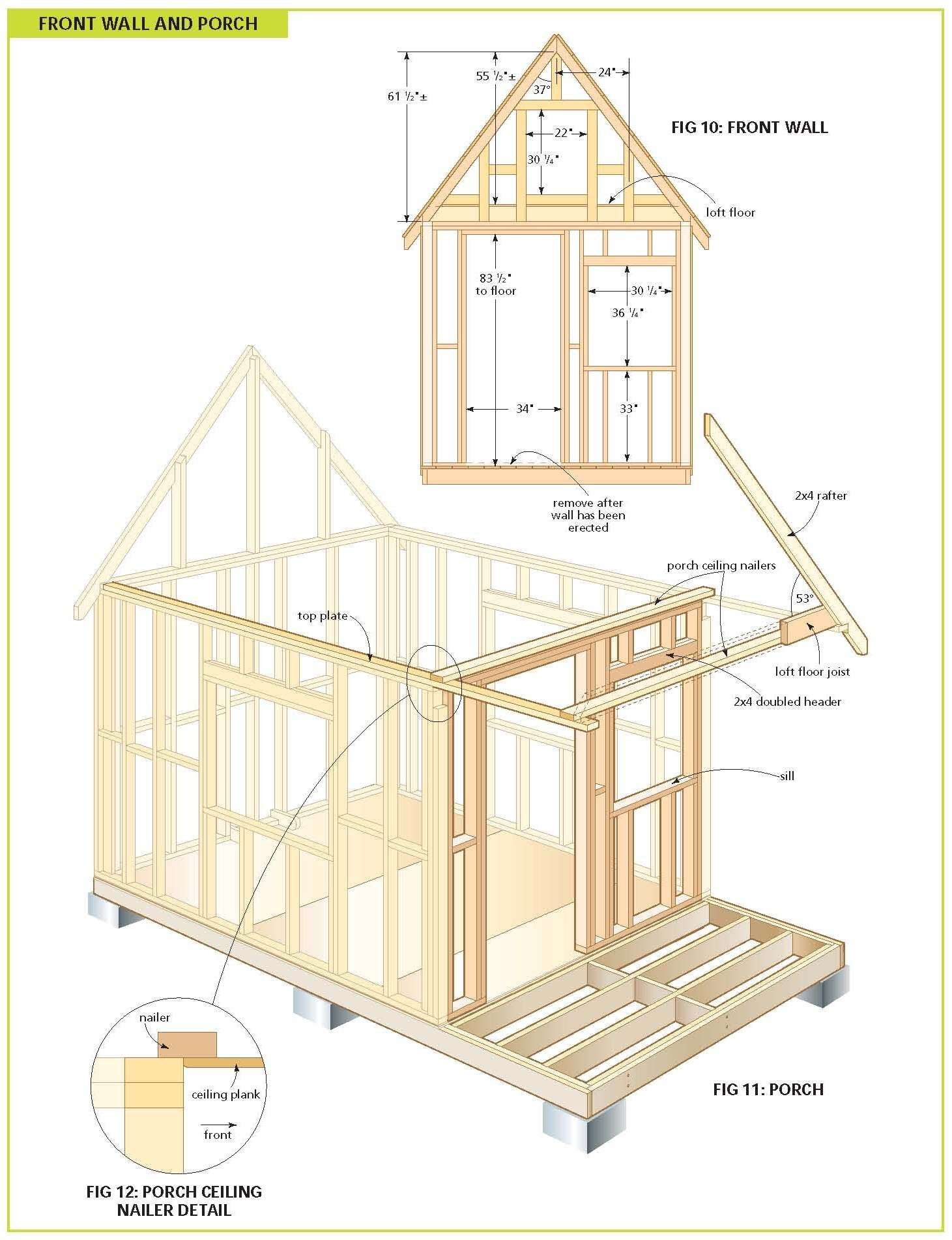 Free Wood Cabin Plans   Maisonnette En Bois, Plan Cabane En ... avec Plan Abri De Jardin En Bois Gratuit
