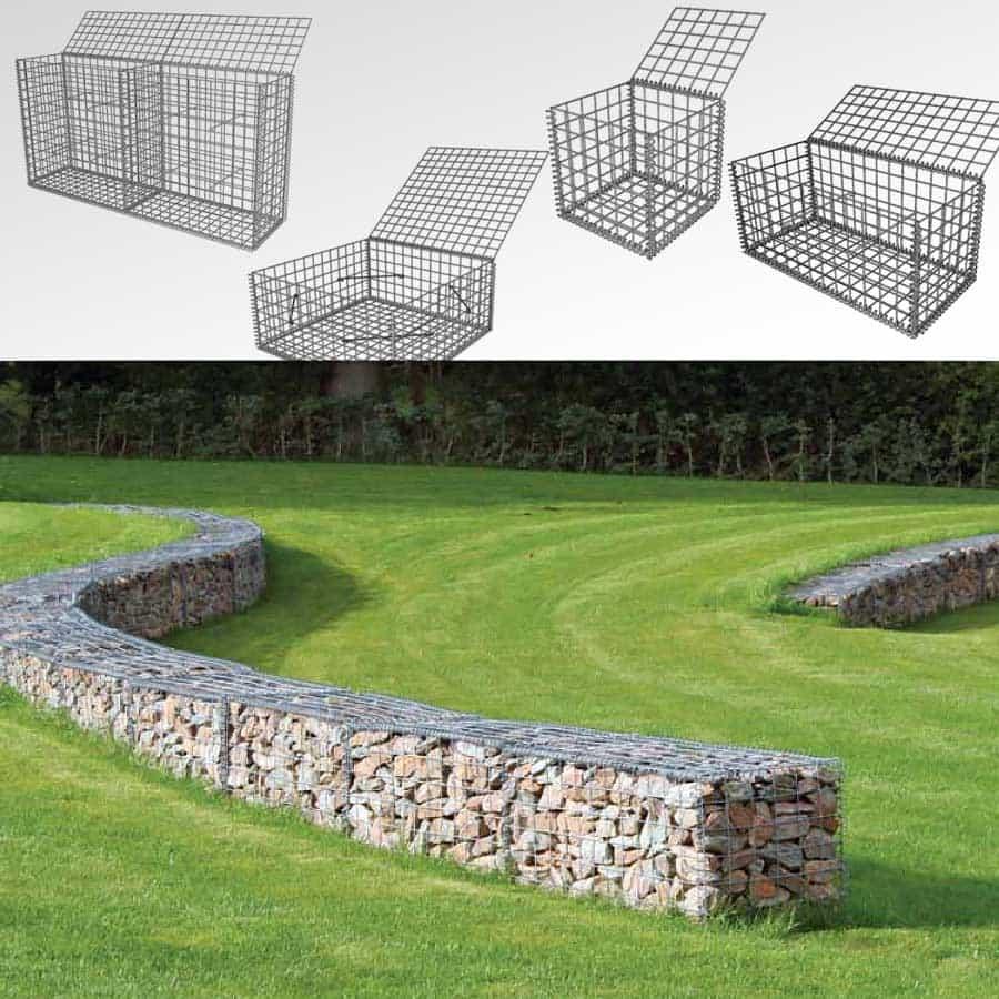 Gabion - Cage Métallique avec Gabion Deco Jardin