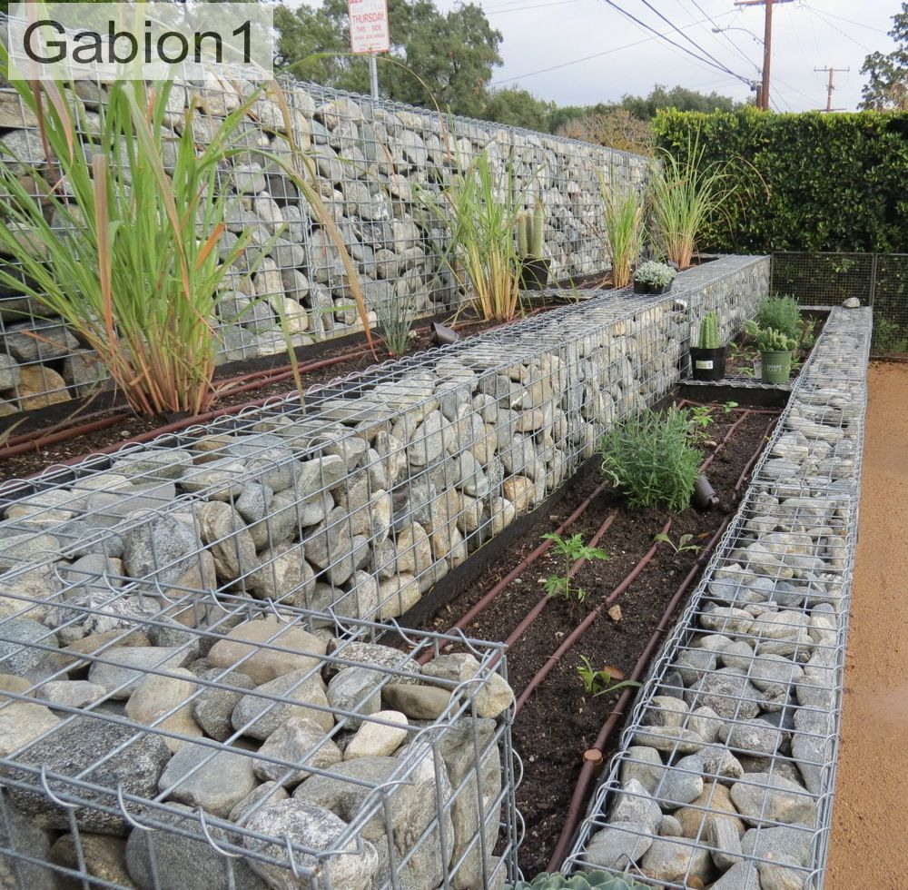 Gabion1 Vegetable Terraced Wall Gabion1 | Bahçe ... dedans Bordure De Jardin Beton 1M