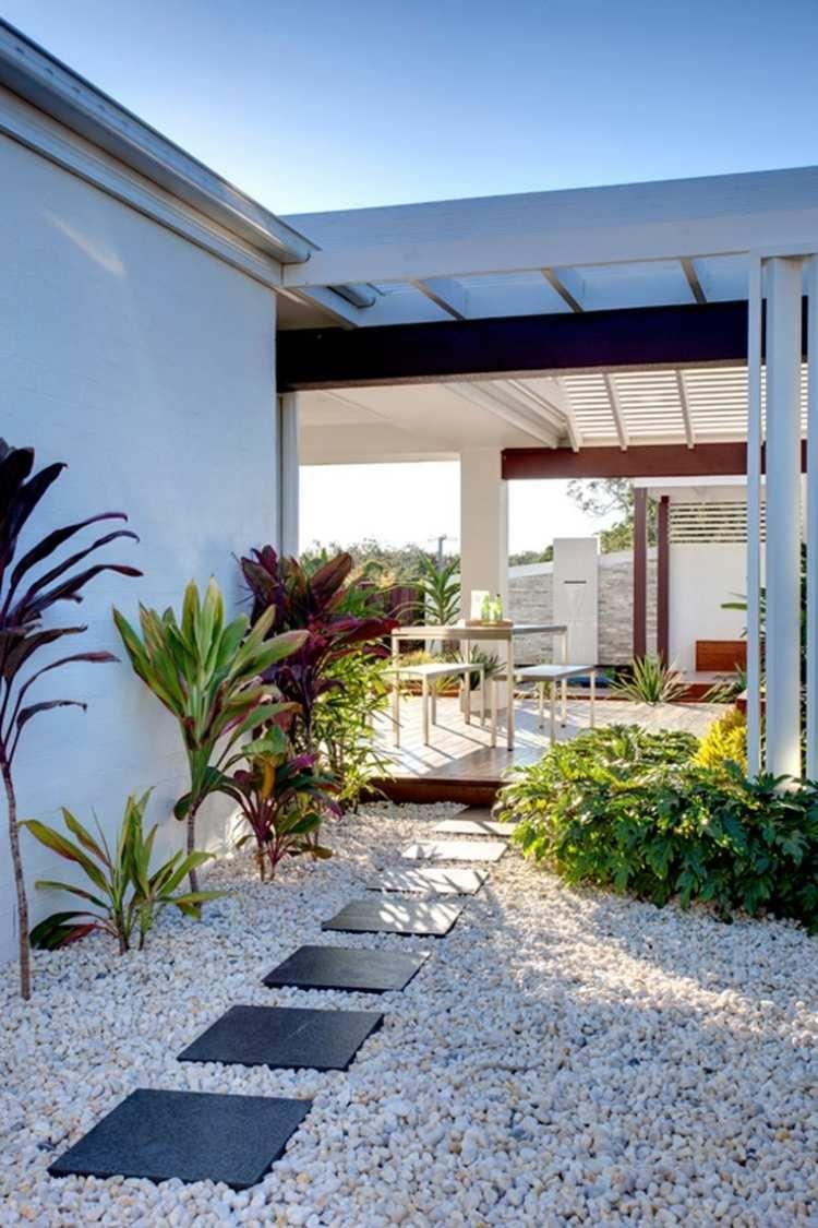Galet Décoratif Blanc: Plus De 45 Idées Pour Vous Inspirer ... intérieur Jardin Paysager Avec Galets