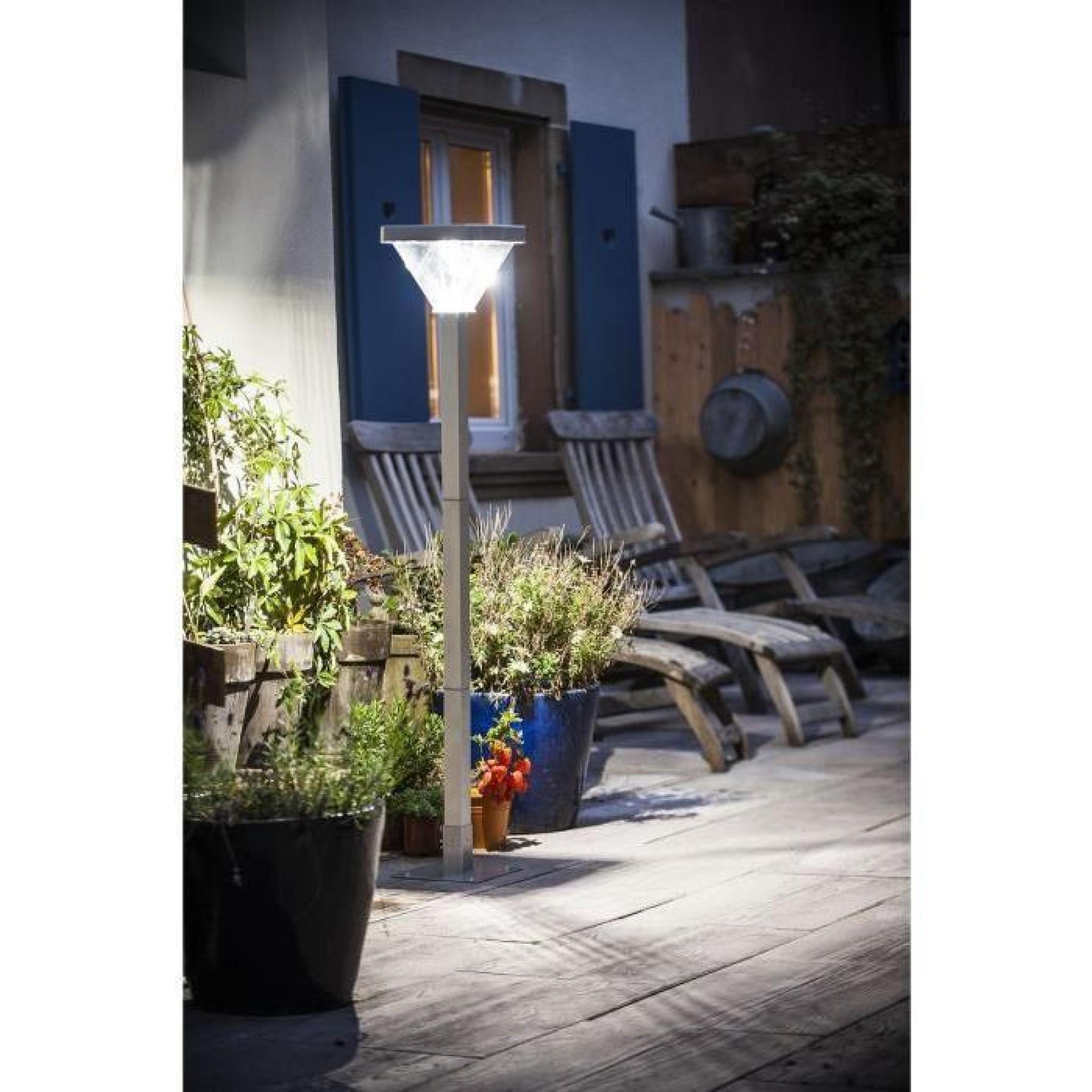 Galix Lampadaire Solaire Aluminium Très Éclairant avec Lampadaire De Jardin Pas Cher