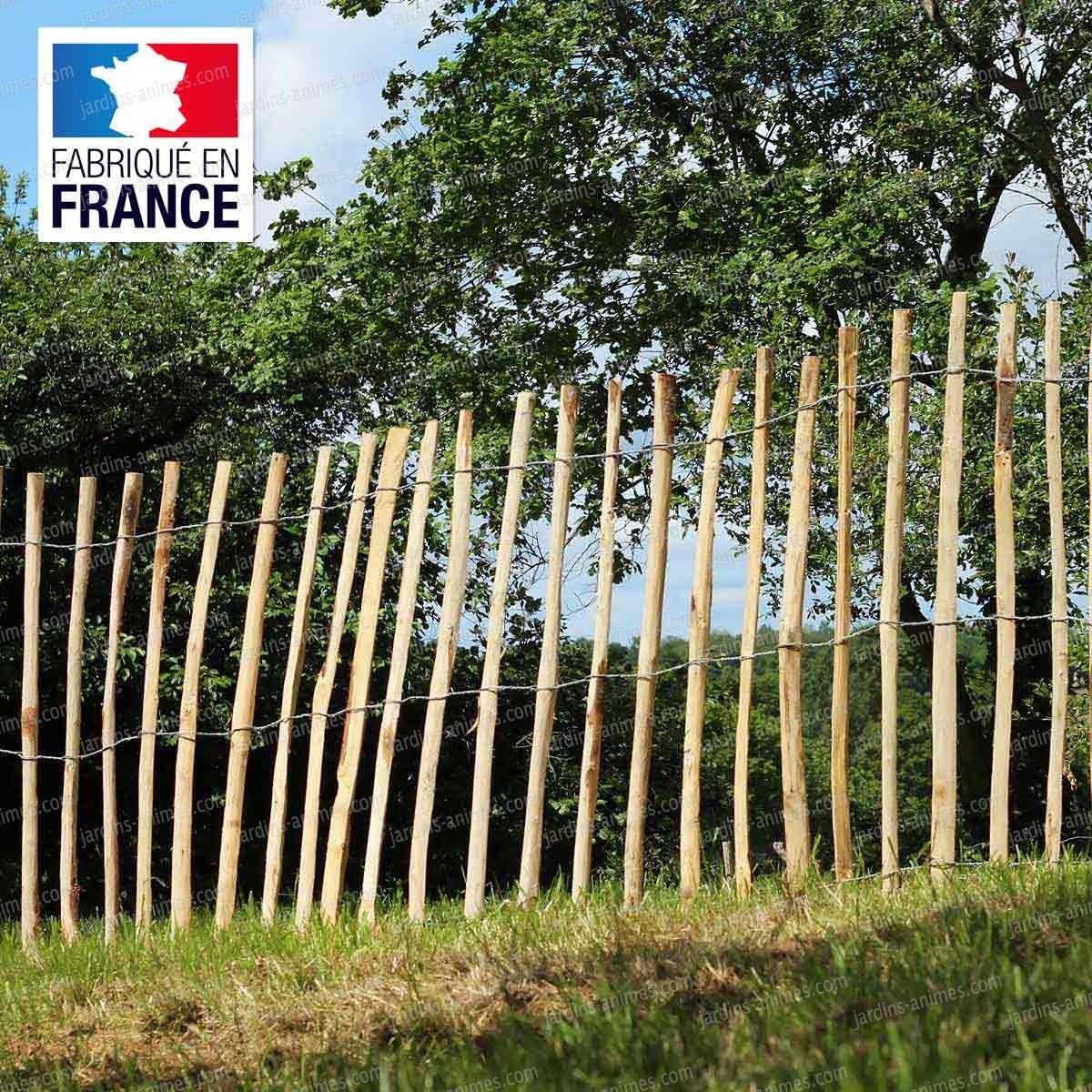 Ganivelle - Cloture En Châtaignier | Cloture Chataignier ... tout Cloture Jardin Chataignier