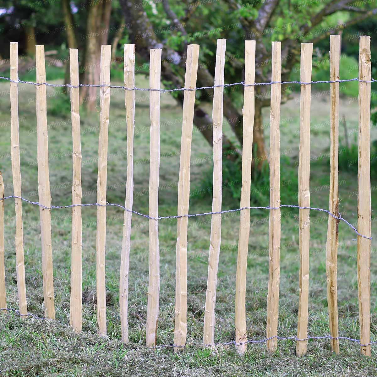 Ganivelle - Cloture En Châtaignier serapportantà Barriere Jardin Pour Chien