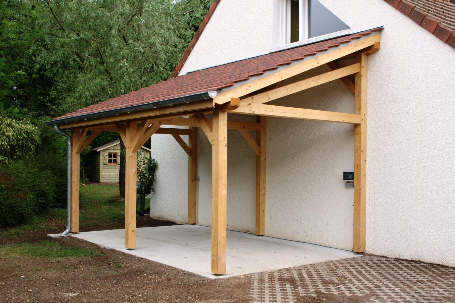 Garage 1 Pente 2.70Mx7.00M - Cerisier : Abris De Jardin En ... destiné Abri De Jardin Une Pente