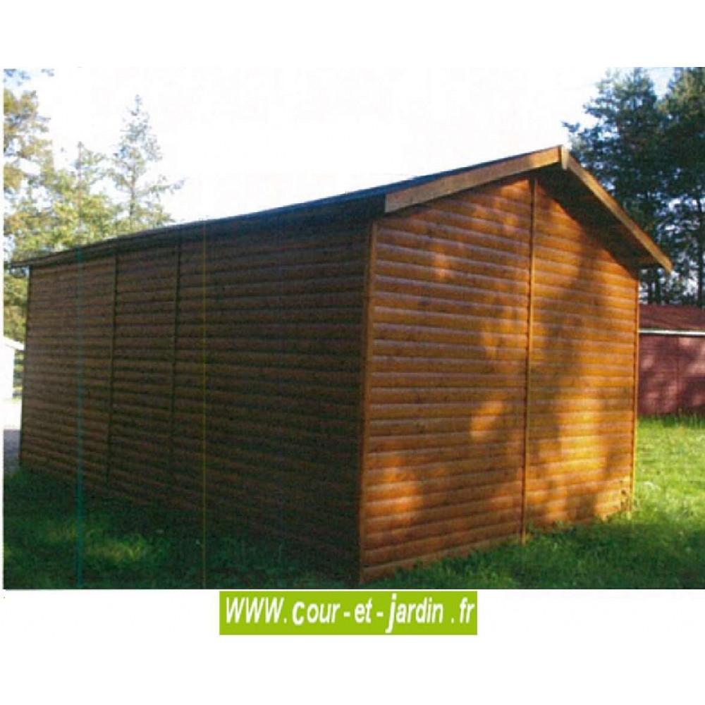Garage Bois 18M² - Hauteur 260 Cm-Garages Et Abris Auto Bois ... pour Abri De Jardin 18M2