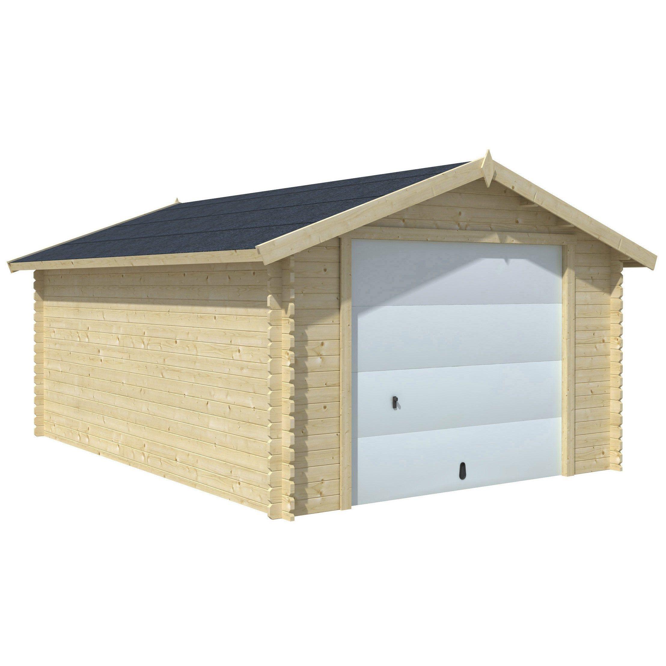 Garage Bois Nova 1 Voiture, 16.91 M² So Garden | Abri De ... destiné Abri De Jardin 18M2