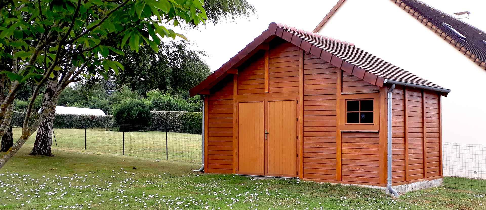 Garage Et Construction Modulaire Béton Et Béton Aspect Bois avec Abri De Jardin Vannes