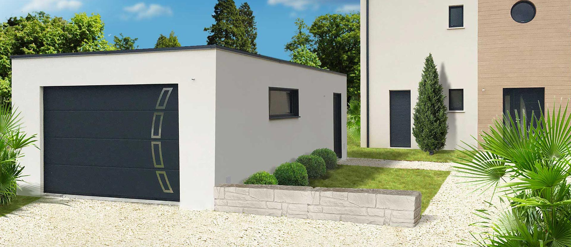 Garage Et Construction Modulaire Béton Et Béton Aspect Bois encequiconcerne Abri De Jardin Prefabrique En Beton