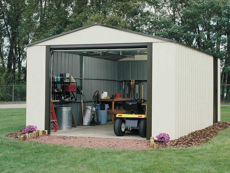 Garage Metal Demontable Arrow Vt1217 Acier Galvanisé 19 M2 à Abri De Jardin 18M2