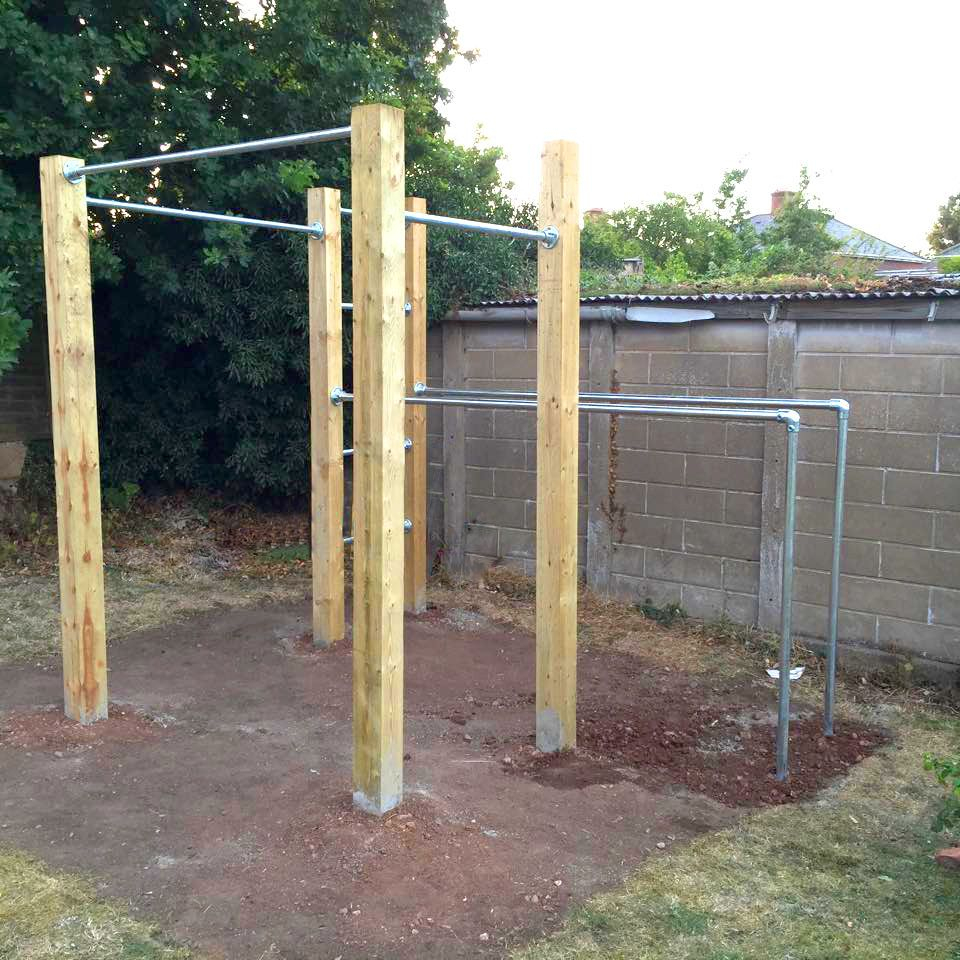 Garden Calisthenics, Outdoor Gym, Pull Up Bars & Dip Bars ... destiné Barre De Traction Jardin