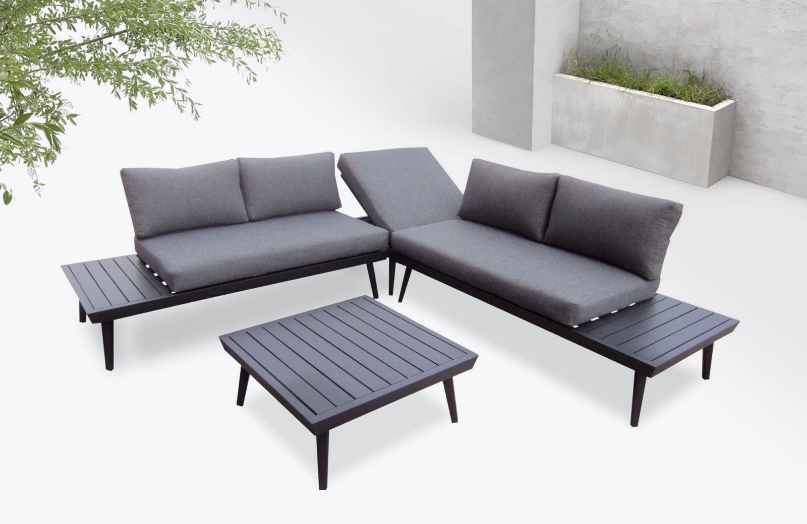 Garden Furniture Aluminium Vigo | Bobochic ® avec Sallon De Jardin