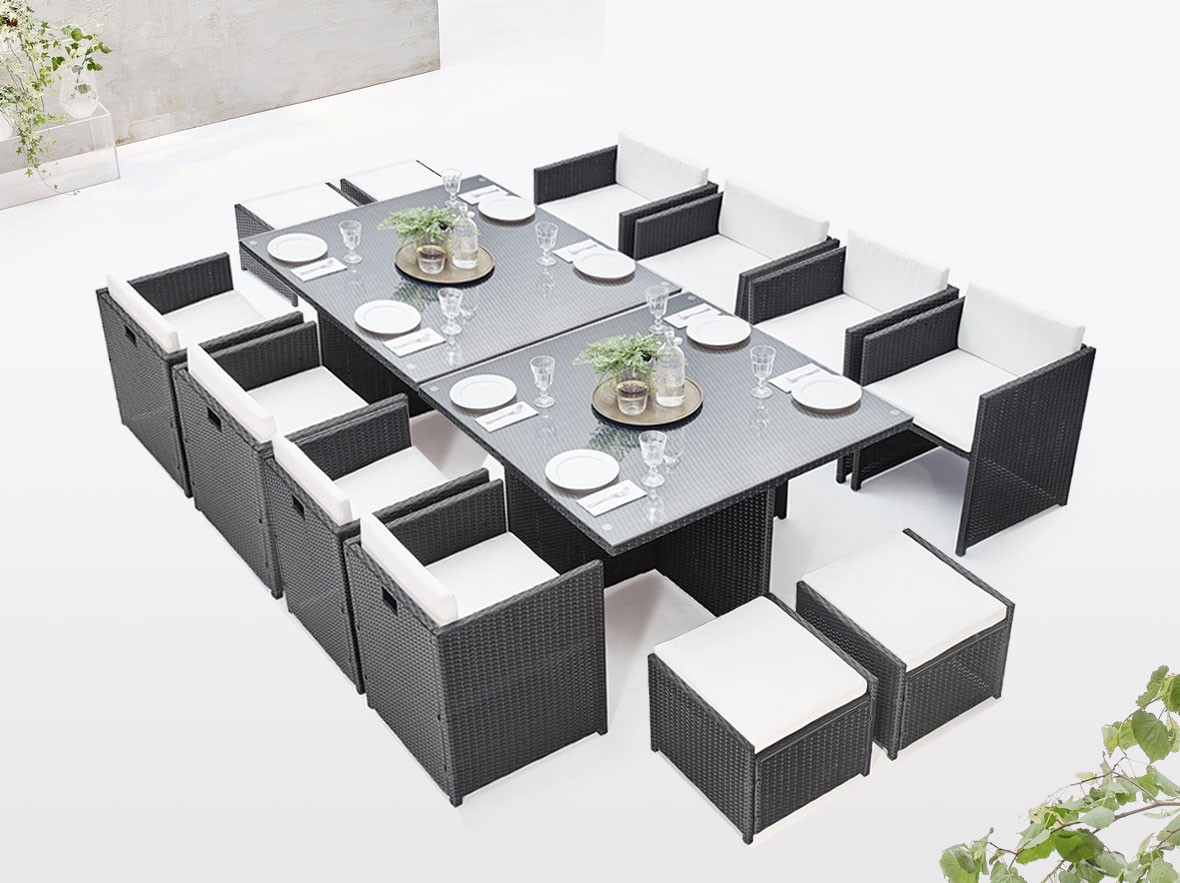 Garden Furniture Modular Insert Family 12 Places   Bobochic ® avec Salon De Jardin 12 Places