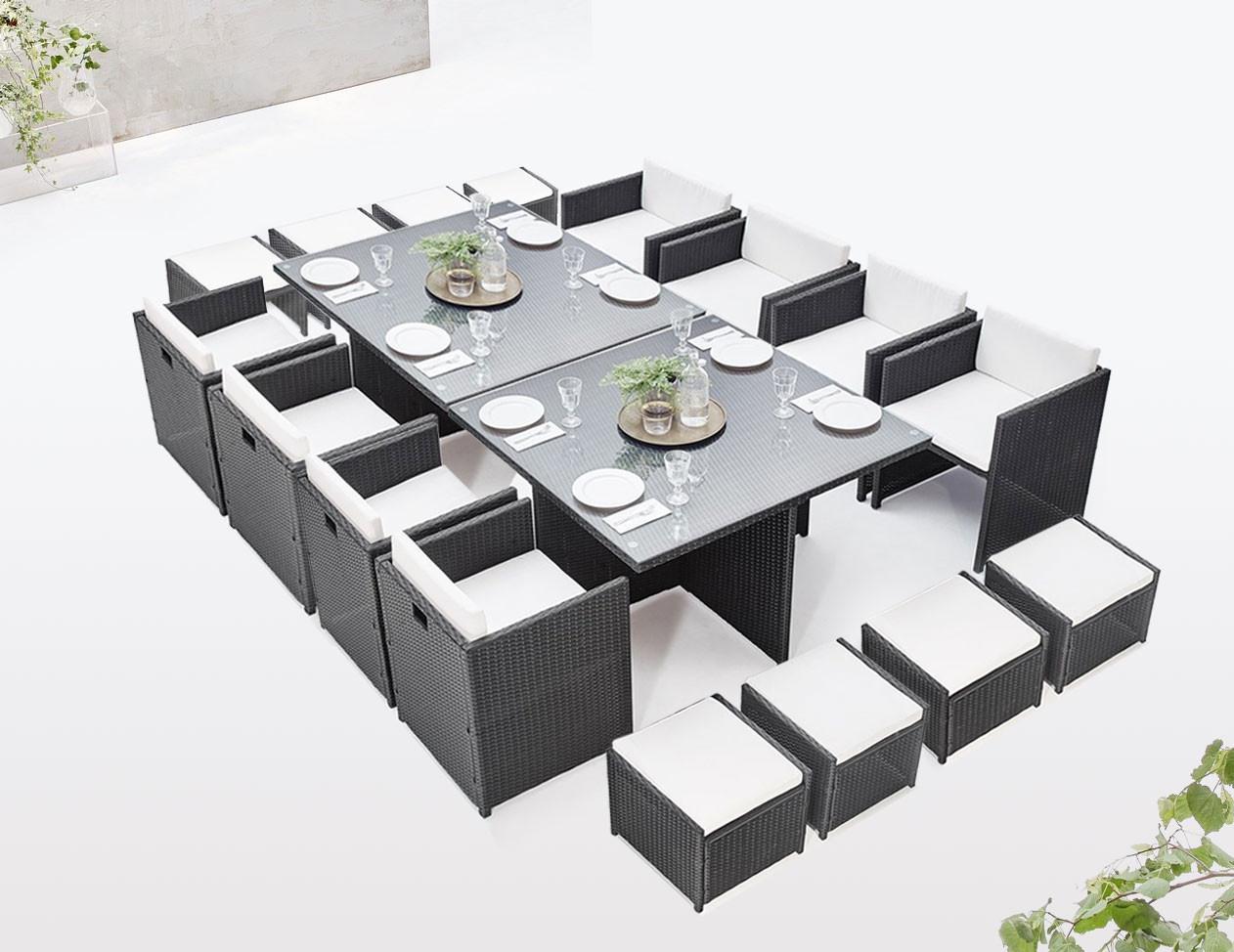Garden Furniture Modular Insert Family 16 Squares   Bobochic ® dedans Lon De Jardin