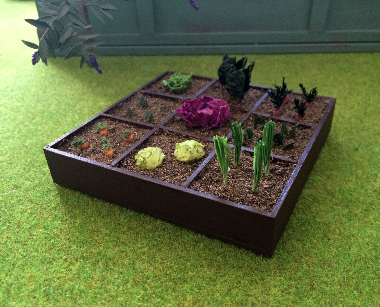 Garden Miniature Dollhouse Scale 1:12 | Jardin Potager ... avec Acheter Un Jardin Potager