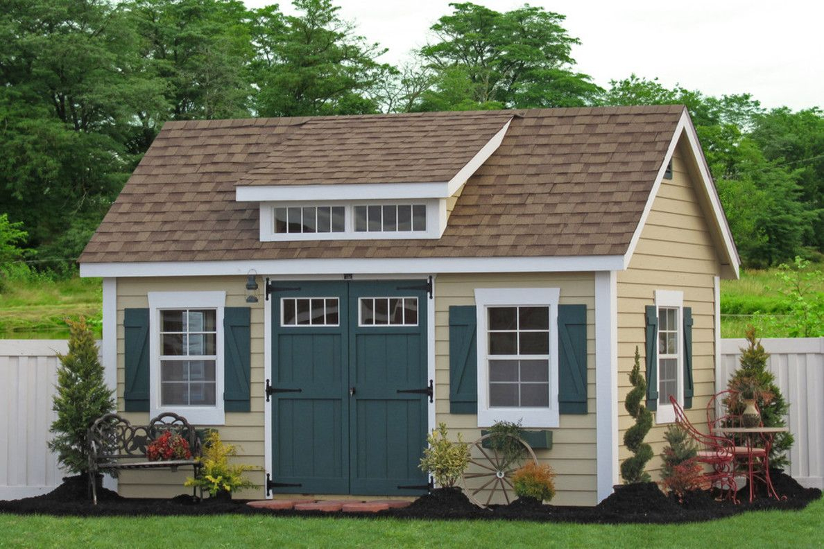 Garden Shed Traditional Garage Cool Design Plan In ... intérieur Abris De Jardin Occasion