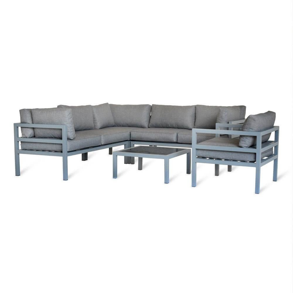 Garden Trading West Strand Corner Sofa Set Aluminium ... tout Artelia Salon De Jardin