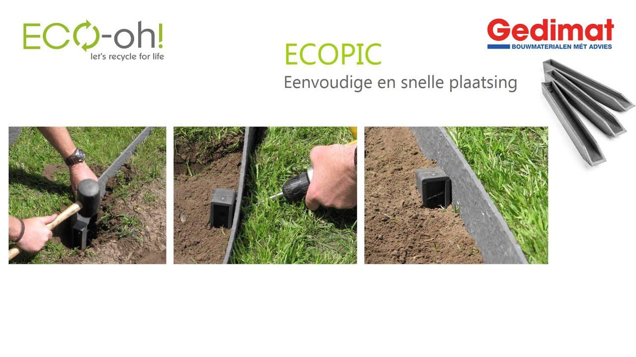 Gedimat - Eco-Oh! Ecolat Afboording pour Bordure De Jardin Gedimat