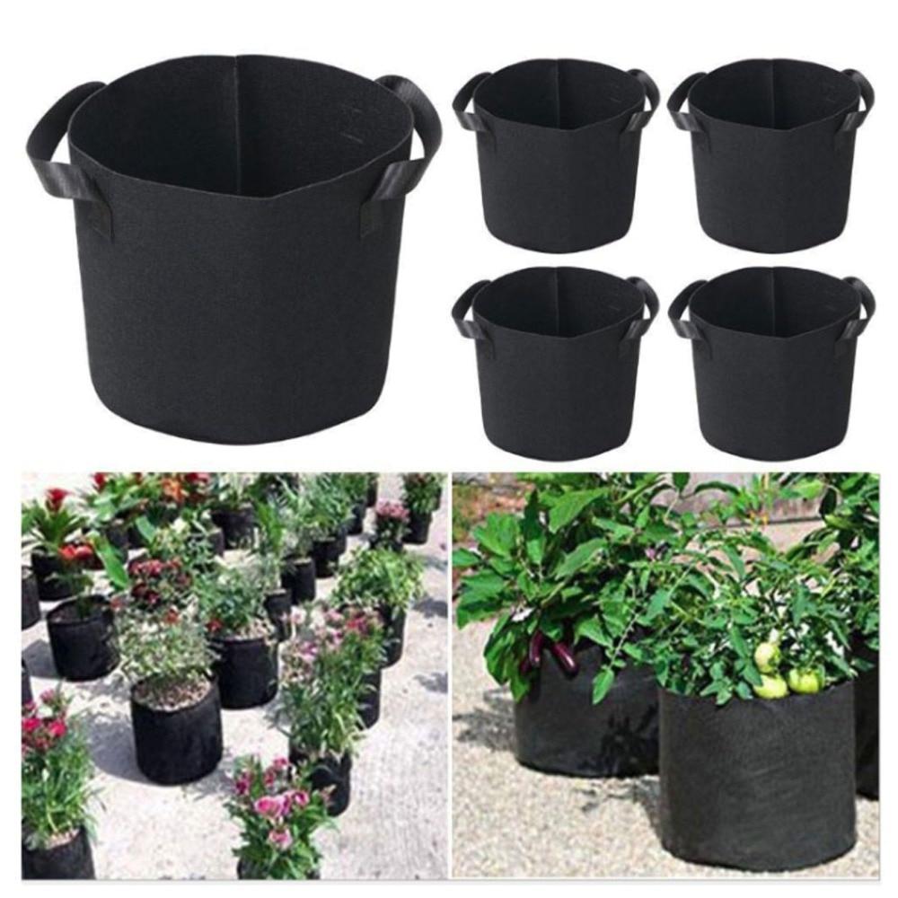 Geotextile Fabric Planting Bag 3/5 Gallon Plants Flower ... à Geotextile Jardin