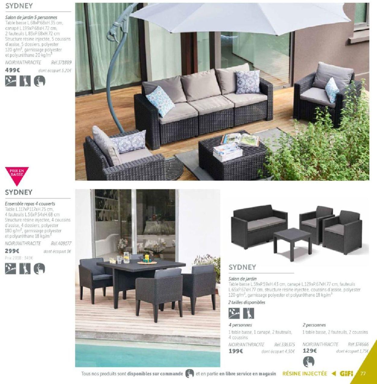 Gifi Catalogue Actuel 14.03 - 31.12.2019 [77] - Catalogue-24 tout Foir Fouille Salon De Jardin