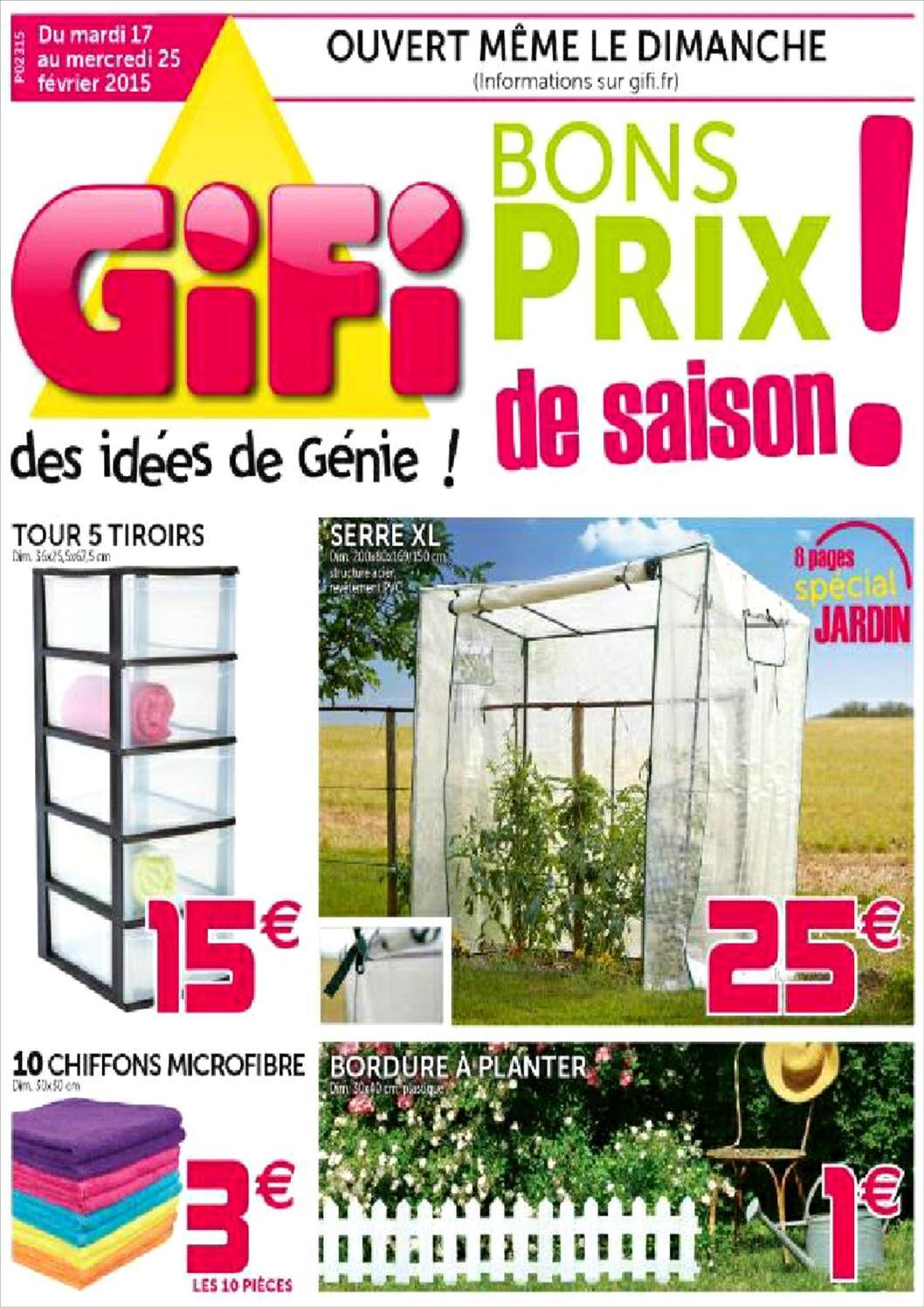 Gifi Valabledu18022015Au25022015 By Jan Deo - Issuu intérieur Idée De Génie Jardin