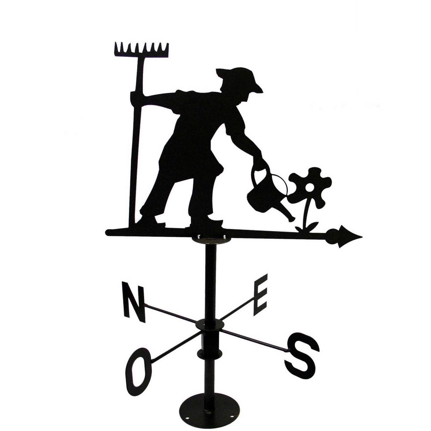 Girouette Jardinier, Gris Métal, Jardifer® concernant Girouette De Jardin