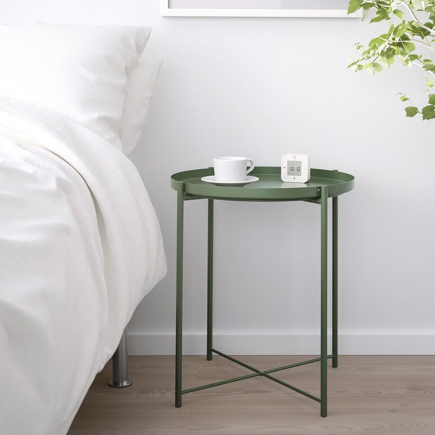 Gladom Table/plateau - Vert Foncé 45X53 Cm à Mobilier De Jardin Ikea