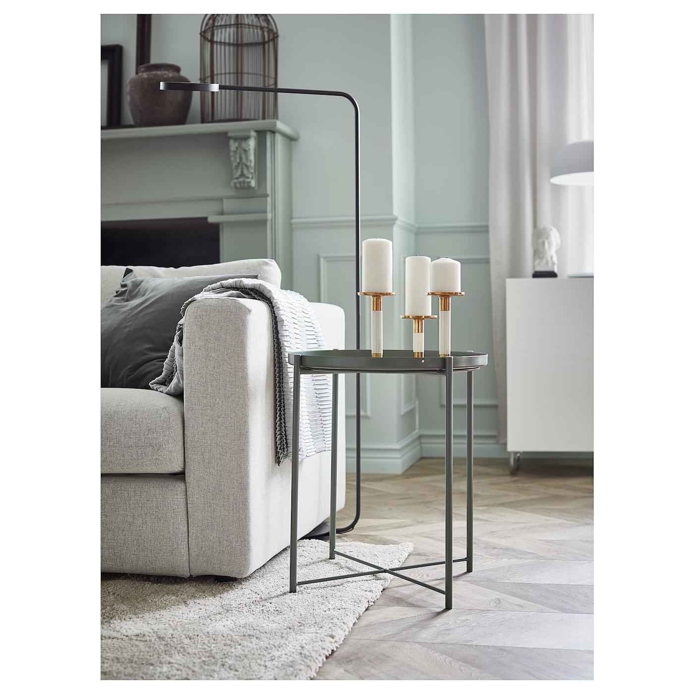 Gladom Table/plateau - Vert Foncé 45X53 Cm concernant Mobilier De Jardin Ikea
