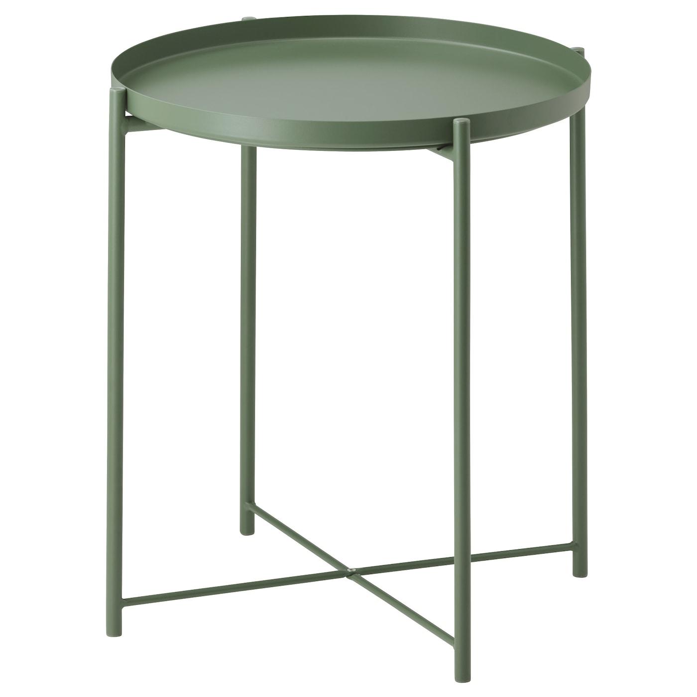 Gladom Table/plateau - Vert Foncé 45X53 Cm dedans Table Basse De Jardin Ikea