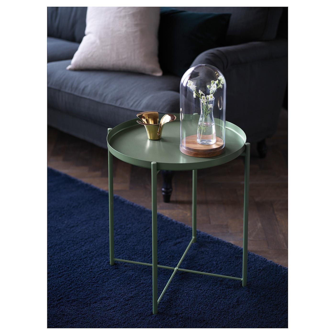 Gladom Table/plateau - Vert Foncé 45X53 Cm serapportantà Table Basse De Jardin Ikea