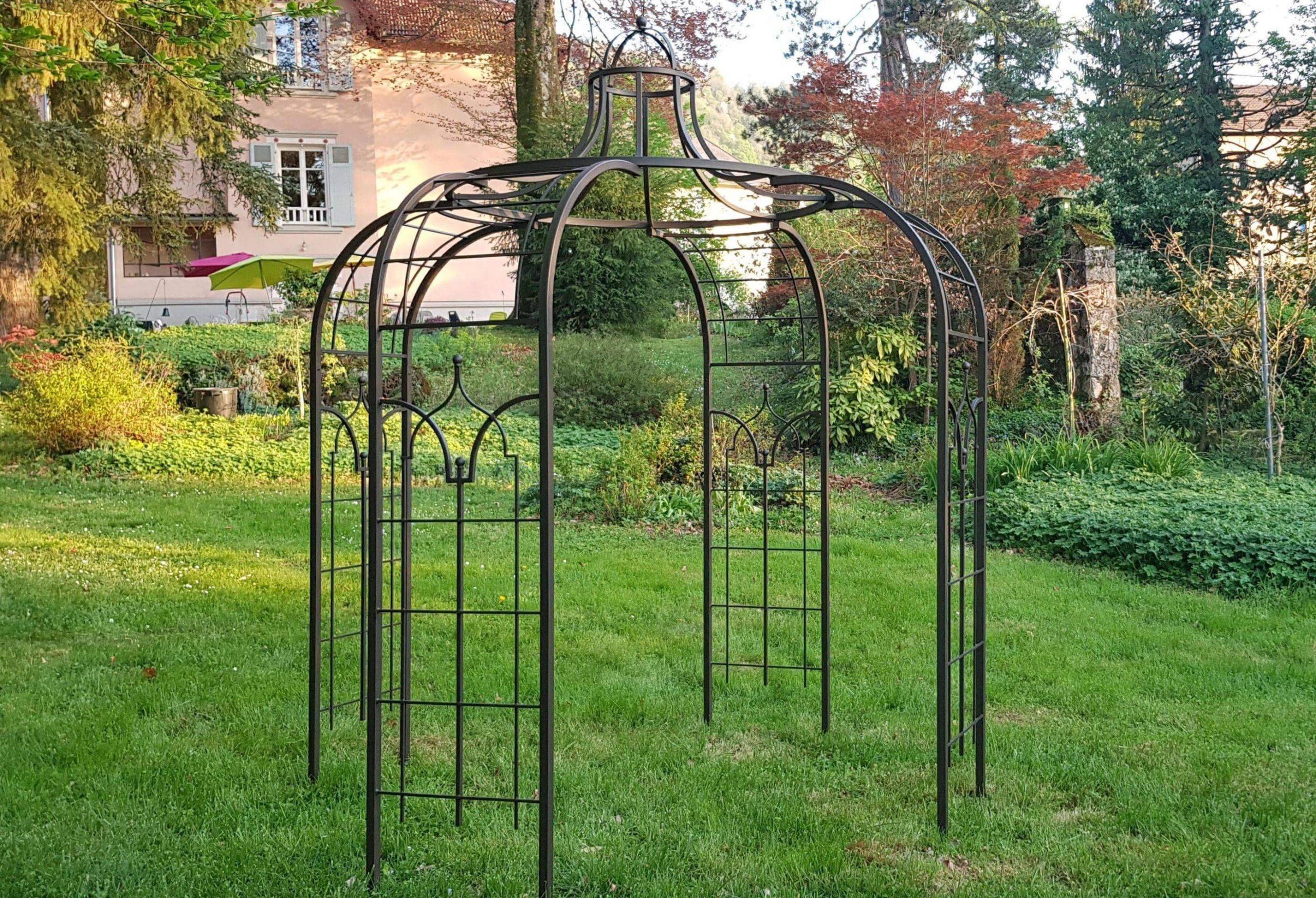 Gloriette Princess Medium Tonnelle Pergola De Jardin Abris ... destiné Arche De Jardin En Fer Forgé