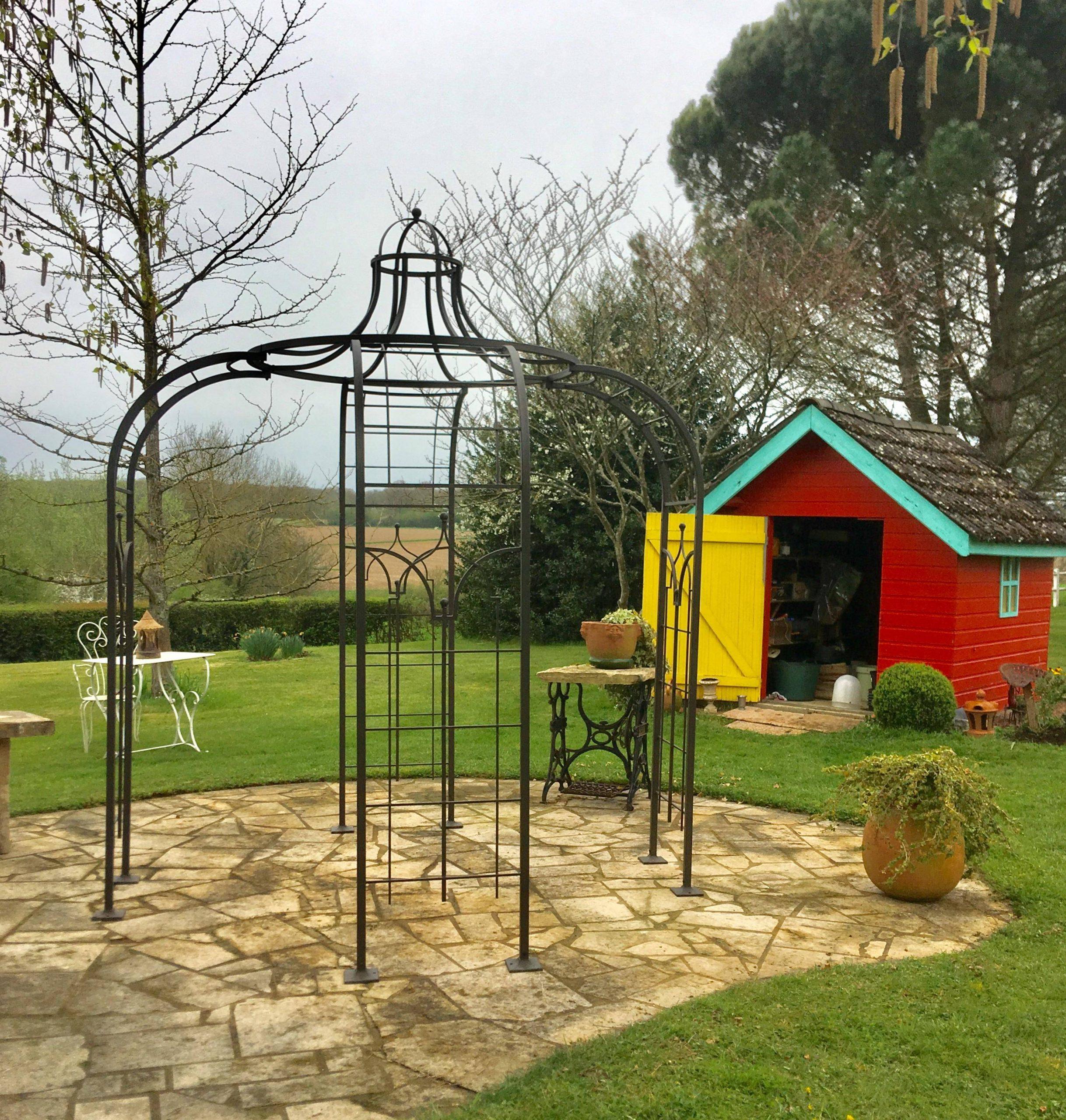 Gloriette Princess Small Tonnelle Pergola De Jardin Abris ... pour Peinture Abri De Jardin