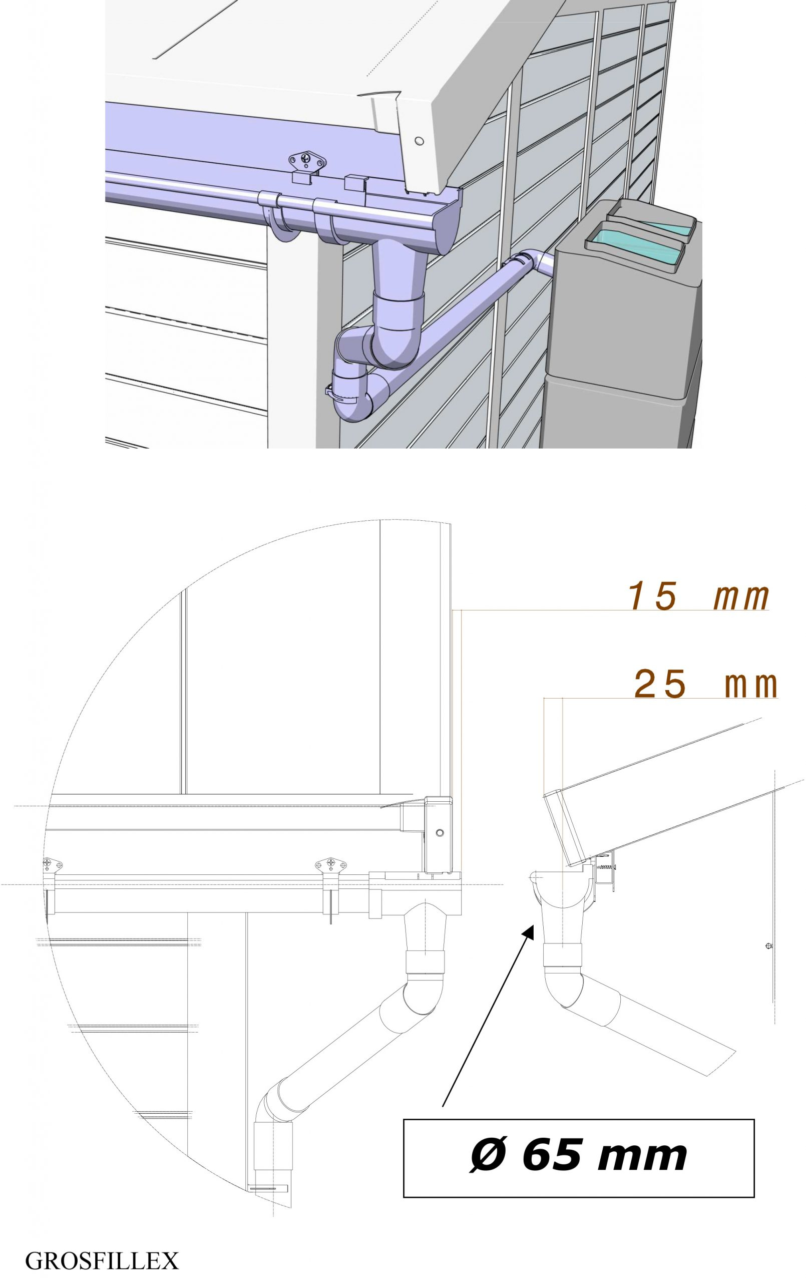 Gouttière Pour Abri De Jardin - Idees Conception Jardin concernant Gouttiere Abri De Jardin