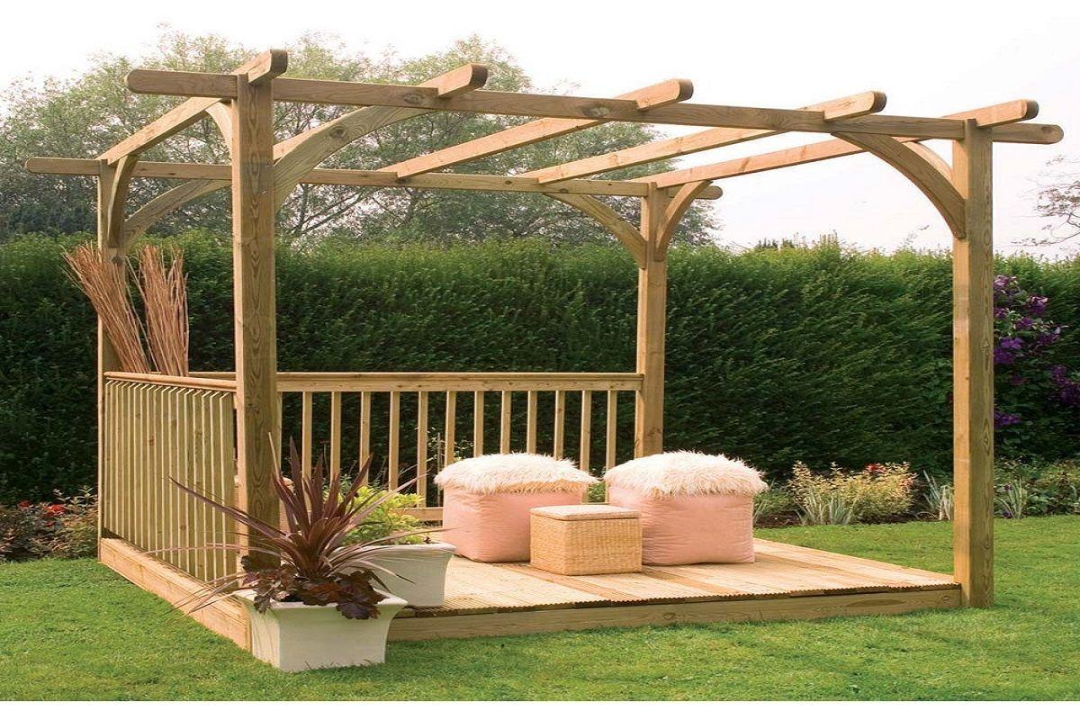 Gracieux Construire Une Tonnelle En Bois Pour Jardin ... dedans Tonnelle De Jardin En Bois