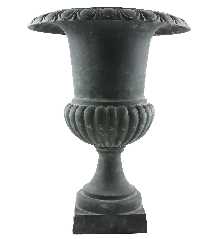 Grand Vase Xxxl Vasque Jardinière En Fonte Grise Style Médicis Pot De Fleur  65X65X96Cm concernant Pot En Fonte Pour Jardin