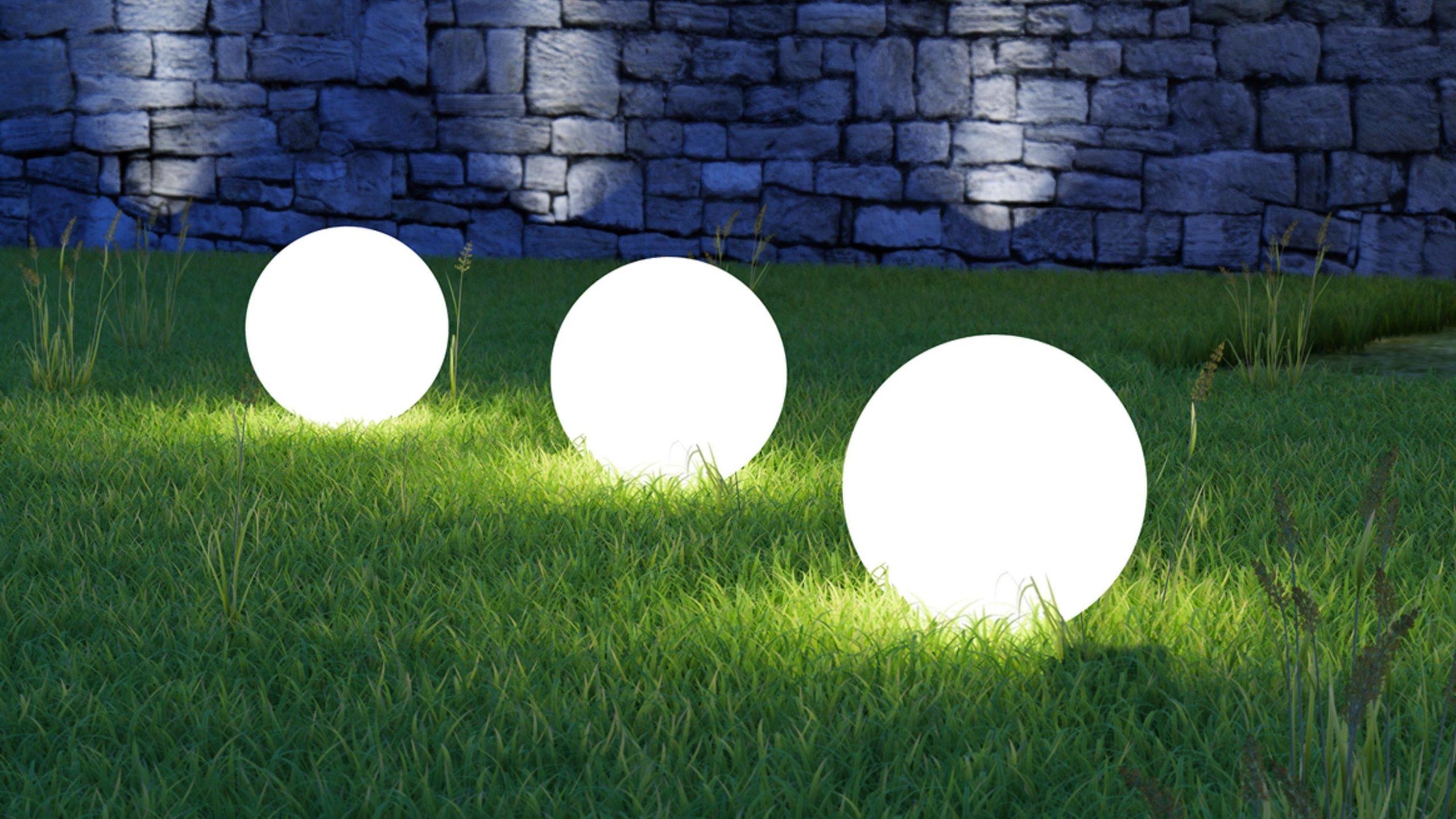 Grande Boule Lumineuse Sans Fil | Oviala destiné Boule Lumineuse Jardin