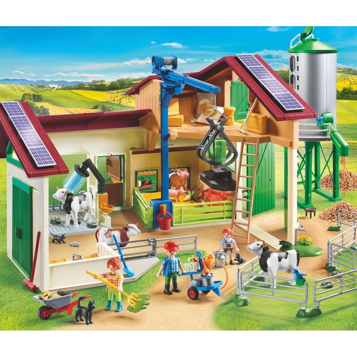 Grande Ferme Avec Silo Et Animaux - Taille : Taille Unique ... à Grand Jardin D Enfant Playmobil
