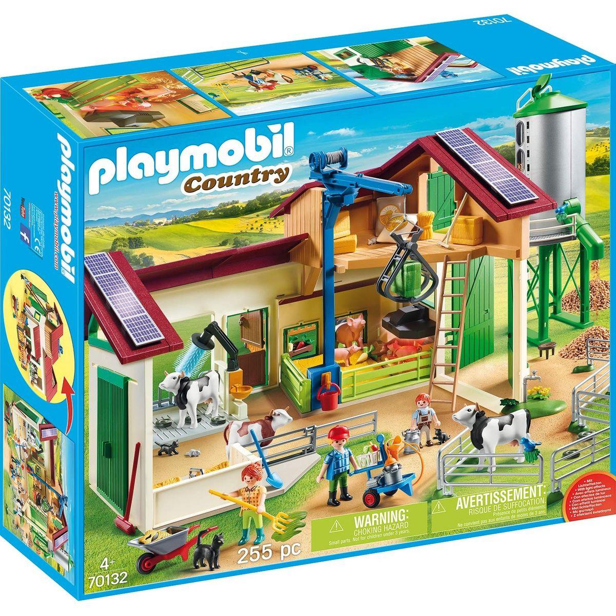 Grande Ferme Avec Silo Et Animaux - Taille : Taille Unique ... intérieur Jardin D Enfant Playmobil