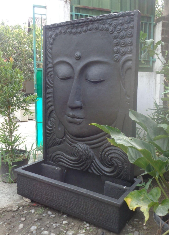 Grande Fontaine De Jardin Mur D'eau Visage De Bouddha 2M 10 ... tout Fontaine De Jardin Bouddha