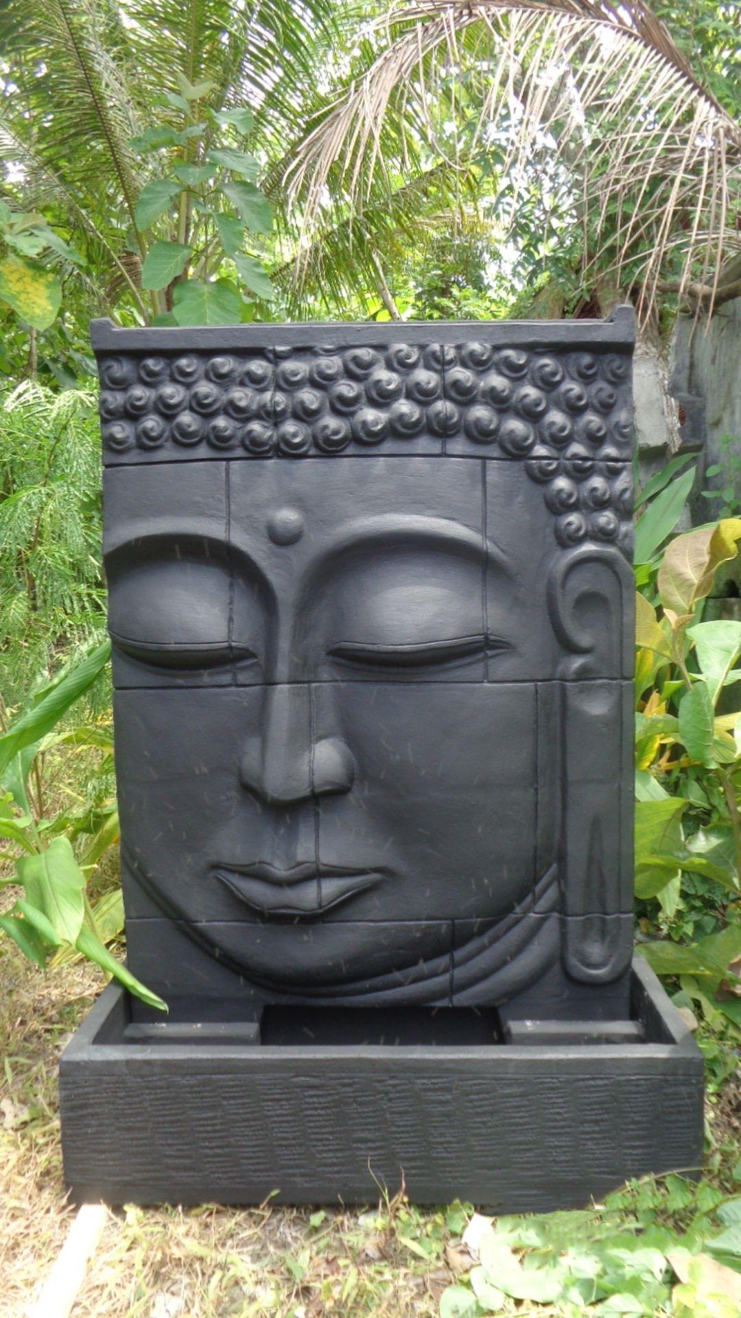 Grande Fontaine Extérieur Mur D'eau Visage De Bouddha 1 M 80 ... intérieur Fontaine De Jardin Bouddha