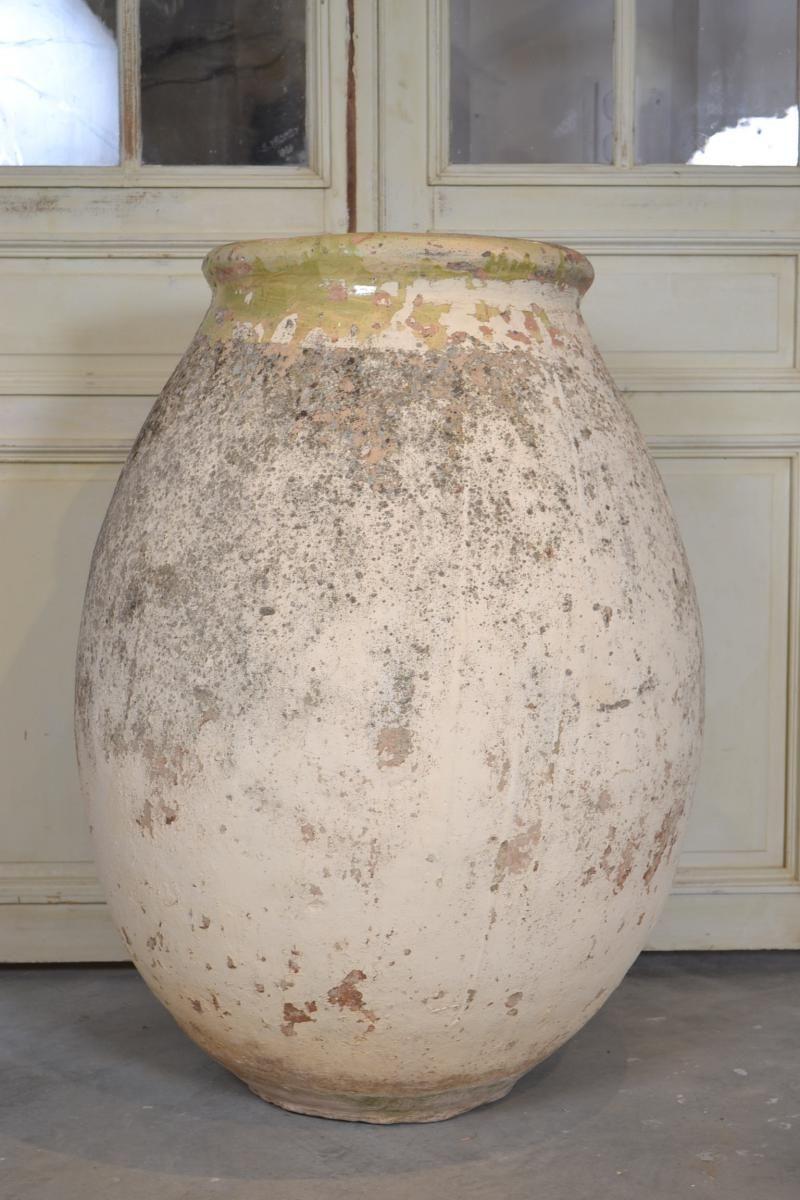 Grande Jarre Ancienne, Région De Biot.19 Ème   Vase De ... intérieur Jarre Terre Cuite Pour Jardin