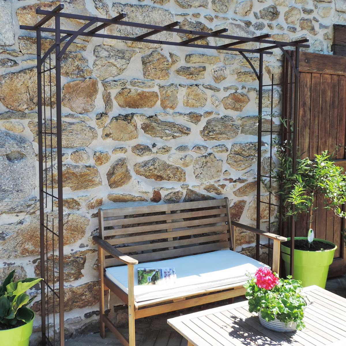 Grande Pergola Fer pour Arche De Jardin En Fer Forgé